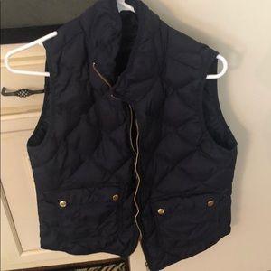 J. Crew Sweater Vest, Navy, Insulated